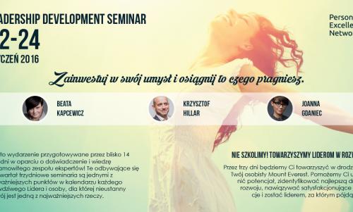 Konferencja w Kielcach Leadership Development Seminar | 22-24 Styczeń 2016