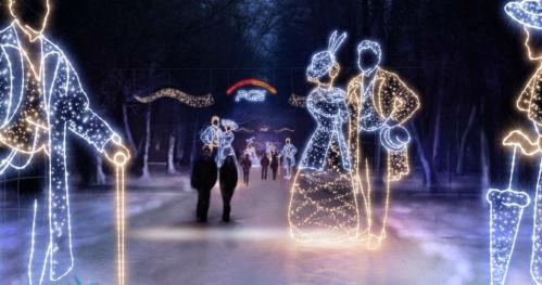 Nocny wesoły spacer po Łazienkach Królewskich - niedziela 22 stycznia 2017