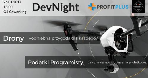 DevNight - Drony, Podatki Programisty