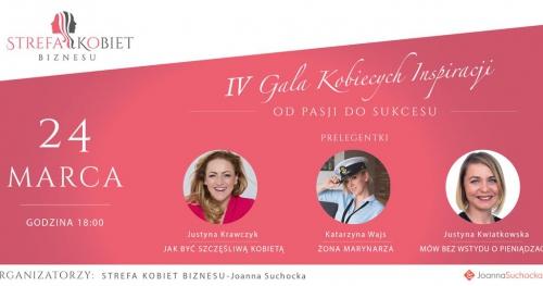 IV GALA KOBIECYCH INSPIRACJI -od pasji do sukcesu!