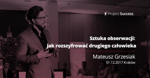 Sztuka obserwacji - Mateusz Grzesiak
