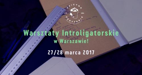 Warsztaty Introligatorskie | WARSZAWA | 27/28 MARCA 2017