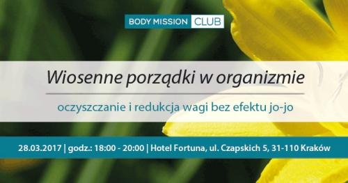 """BODY MISSION CLUB - """"Wiosenne porządki w orgaznizmie."""""""