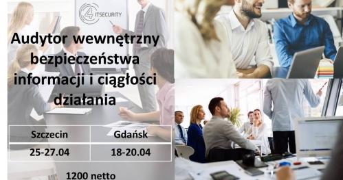 Szkolenie - Audytor wewnętrzny bezpieczeństwa informacji i ciągłości działania