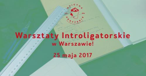 Warsztaty Introligatorskie | WARSZAWA |25 maja 2017
