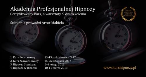 Akademia Profesjonalnej Hipnozy - 4 zjazdy, 9 dni