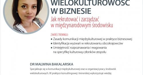 BL TRAINING: Wielokulturowość w biznesie - jak rekrutować i zarządzać w międzynarodowym środowisku