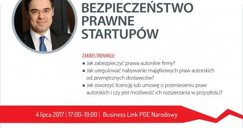 Spotkania z prawnikami: Bezpieczeństwo prawne startupów.