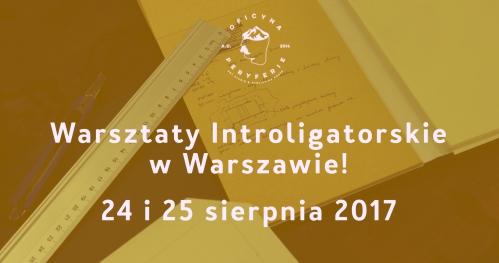 Warsztaty Introligatorskie | WARSZAWA | 24/25 sierpnia 2017