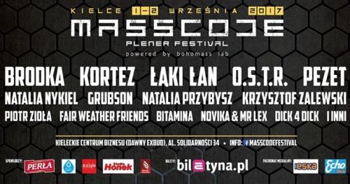 •MASSCODE FESTIVAL• Brodka, Kortez, Łąki Łan, O.S.T.R., Nykiel, Grubson...