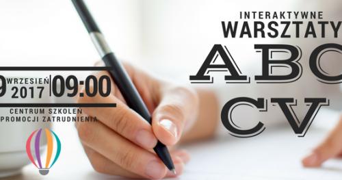 """INTERAKTYWNY WARSZTAT """"ABC...CV"""""""