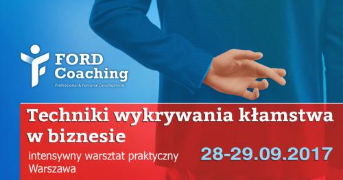 Techniki wykrywania kłamstwa w biznesie - intensywny warsztat praktyczny 28-29.09.17