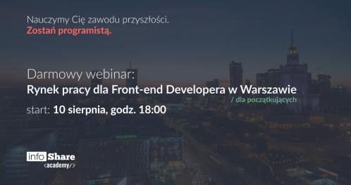 Darmowy webinar: Rynek pracy dla Front-end Developera w Warszawie