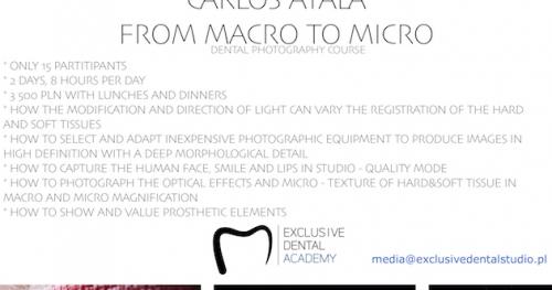 "Warsztaty ""From macro to micro"" Carlos Ayala"