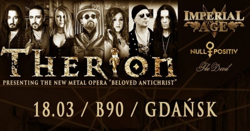 Therion + Imperial age, Null Positiv / 18.03 / B90 Gdańsk
