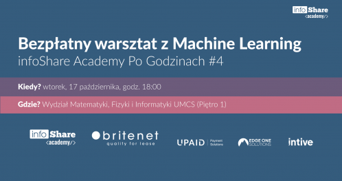 infoShare Academy Po Godzinach #4 / Machine Learning