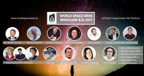 World Space Week Wrocław 2017 - całodniowa KONFERENCJA - niedziela - CK Hali Stulecia