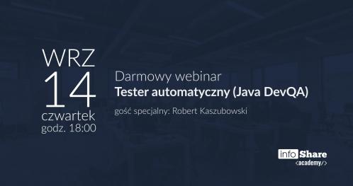 Darmowy webinar: Tester automatyczny (Java DevQA)