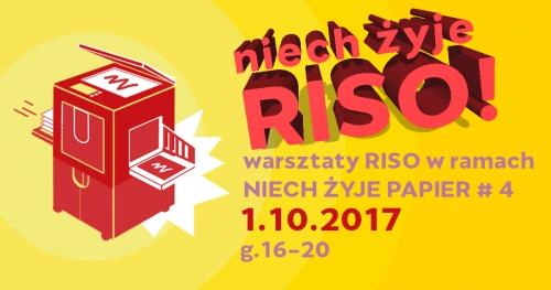 Warsztaty RISO z Oficyną Peryferie - Niech Żyje Papier #4!