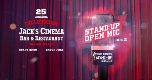 Warszawa-czas na stand-up: OPEN MIC Jack Cinema odc.3