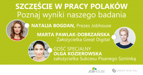 Szczęście w Pracy Polaków - spotkanie wokół wyników badań