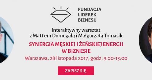 Interaktywny warsztat: Synergia męskiej i żeńskiej energii w biznesie