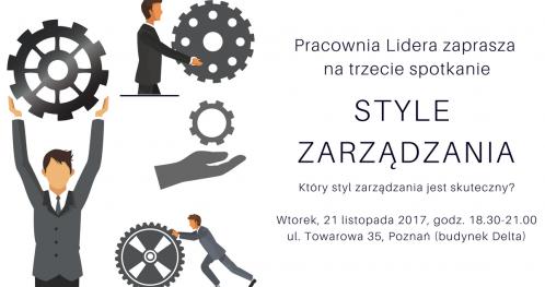 """PRACOWNIA LIDERA - #3 """"Style zarządzania"""" - Poznań"""