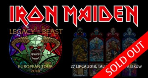Iron Maiden Official Event, Tauron Arena Kraków, 27.07- SOLD OUT