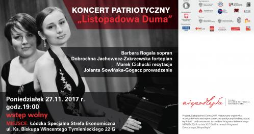 """Wyjątkowy koncert """"Listopadowa Duma"""" - Chopin, Mickiewicz i ... my!"""