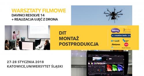 Warsztaty filmowe DaVinci Resolve + realizacja ujęć z drona