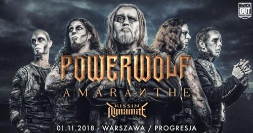 Powerwolf + Amaranthe, Kissin' Dynamite / 1 XI / Warszawa