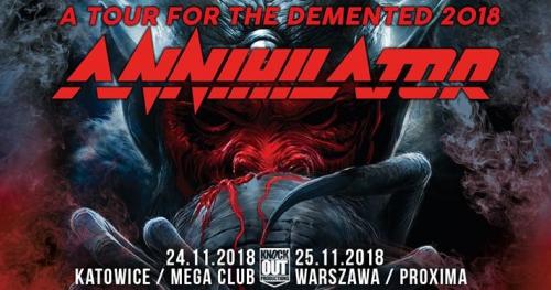 "Annihilator / 25 XI / ""Proxima"" Warszawa"