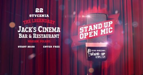 Warszawa - Czas na Stand-up: OPEN MIC Jack's Cinema