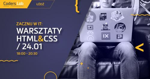 Zacznij w IT: warsztaty HTML&CSS w Łodzi