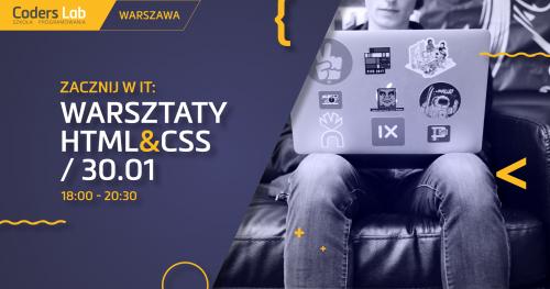 Zacznij w IT: warsztaty HTML&CSS w Krakowie