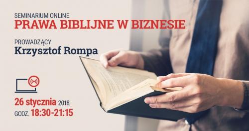 Seminarium biznesowe: Prawa biblijne w biznesie