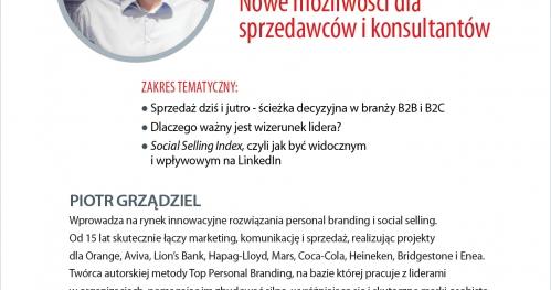 BUSINESS TRAINING: Social Selling - Nowe możliwości dla sprzedawców i konsultantów