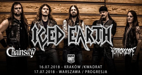 Iced Earth + Chainsaw, Horrorscope / 16 VII / Kraków
