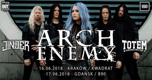 """Arch Enemy + Jinjer, Totem / 17 VI / """"B90"""" Gdańsk"""
