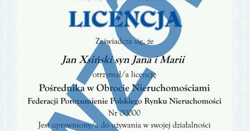 Licencyjny kurs pośrednika nieruchomości - Kielce - edycja kwiecień 2018