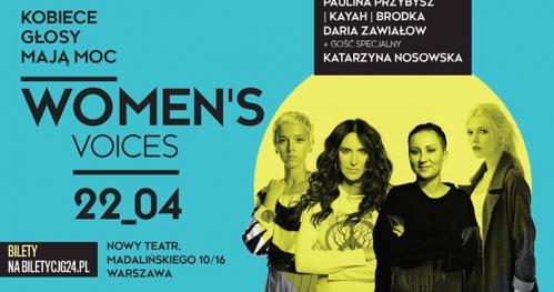 Women's Voices: Paulina Przybysz/Kayah/Brodka/Zawiałow/Nosowska