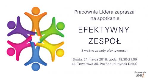 """PRACOWNIA LIDERA - #7 """"Efektywność zespołu"""" - Poznań"""
