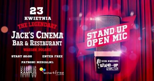 Warszawa - Czas na Stand-up: OPEN MIC Jack's Cinema (23.04)
