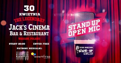 Warszawa - Czas na Stand-up: OPEN MIC Jack's Cinema (30.04)