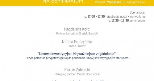 Otwarte Seminarium Inwestycyjne - 10 maja
