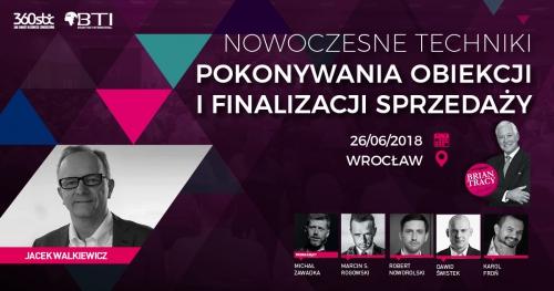 NOWOCZESNE TECHNIKI POKONYWANIA OBIEKCJI I FINALIZACJI SPRZEDAŻY - Wrocław