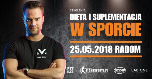Dieta i suplementacja w sporcie - Jakub Mauricz. Radom, 25.05.2018
