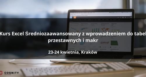 Kurs Excel Średniozaawansowany z wprowadzeniem do tabel przestawnych w Cognity - Kraków