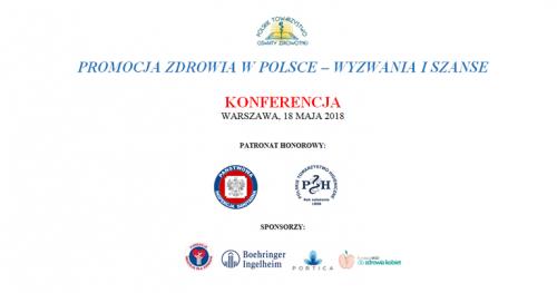 """Konferencja """"Promocja zdrowia w Polsce - wyzwania i szanse"""" z okazji 25-lecia PTOZ."""