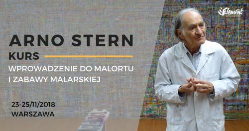 Arno Stern - KURS: Wprowadzenie do Malortu i zabawy malarskiej